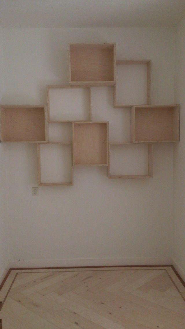 25+ beste idee u00ebn over Zwevende boekenplanken op Pinterest   Planken, Muur planken en Muur