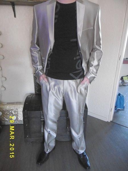 Costume homme beige irisé superbe matière  de Sand'R83 sur DaWanda.com