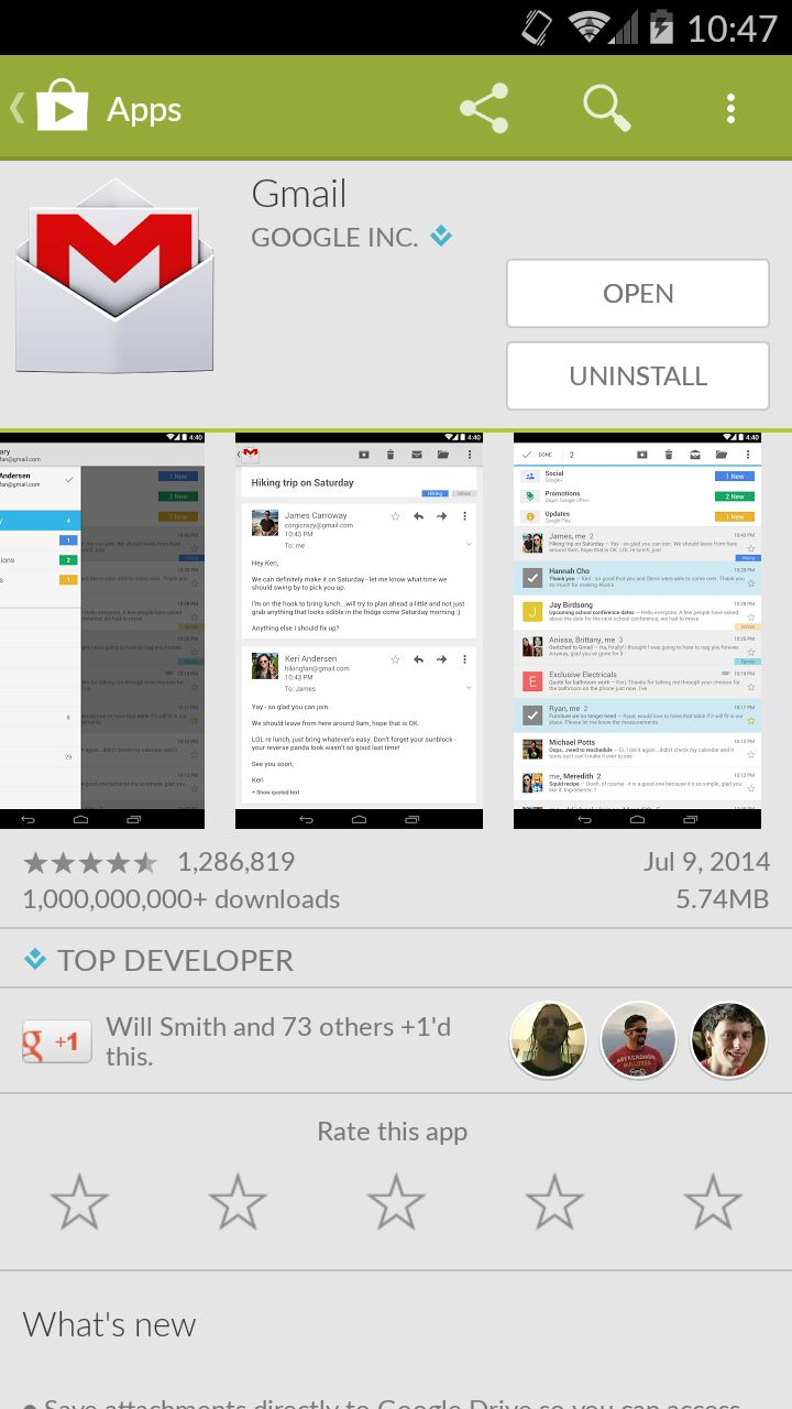 Gmail Android App Version 4.9 Released • vlogg.com