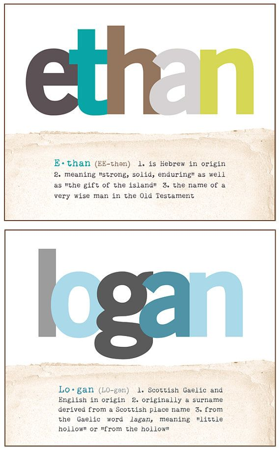 Logan maybe if we have a boy the second time around. Rylynn Jade and Logan Michael...Customized Baby Name Art Print with Name Meaning by CisforColor