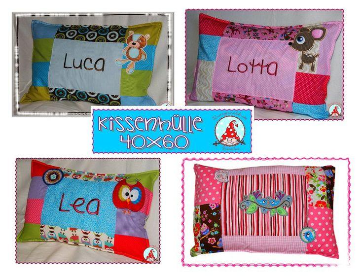 Patch Kissenhülle 40x60 mit Namen Junge & Mädchen von Cheyennen auf DaWanda.com