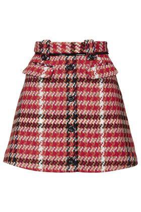 Check Vinyl Skirt