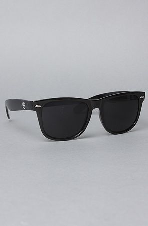 The 55mm Folded Wayfarer Sunglasses in Glossy Black by All Day #KARMALOOP