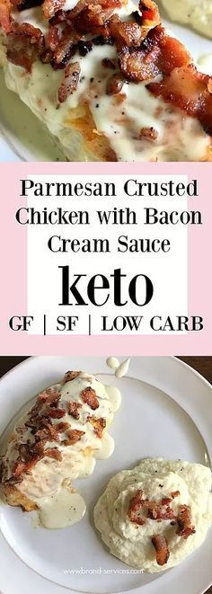 Crispy bacon, creamy sauce, and juicy chicken will make you sing keto praises! Gluten free + Sugar free too! Only 1.7 net carbs per serving!