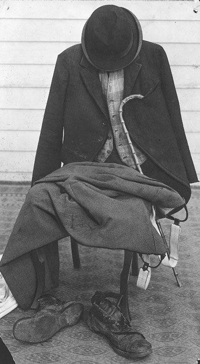 One of the most iconic costumes in the world (Charlie Chaplin's). S)