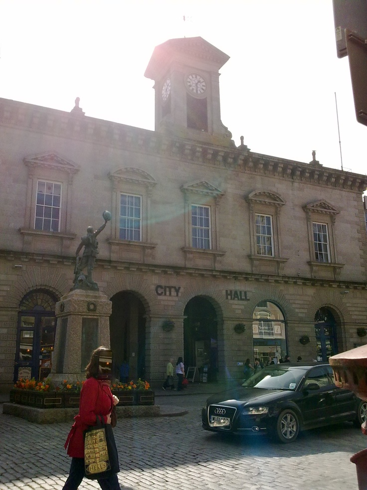 Former Market Hall, now City Hall and Hall for Cornwall theatre.