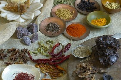 origins of curry with recipes: spiced yogurt and okra