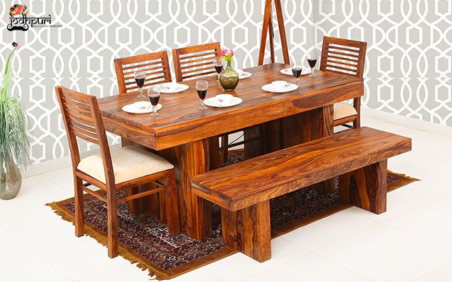 Pin By Jodhpuri Furniture On Wooden 6 Seater Dining Table In 2020