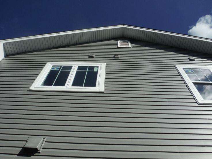 View Of The Certainteed Charcoal Gray Vinyl Siding