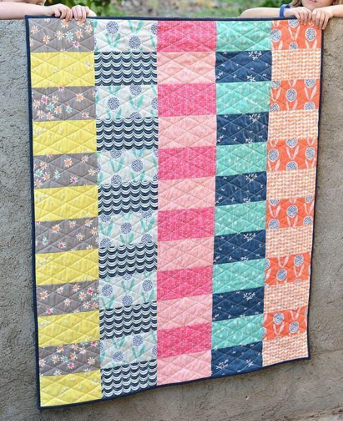 Simply Curious Baby Quilt Tutorial | This quick and easy baby quilt can be made in a single weekend!