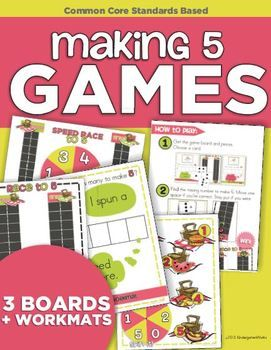 Making 5 Games - oh my word these 3 games are awesome and so perfect for kindergarten!