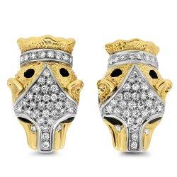 0.82cts Diamond Leopord Clip on Earrings