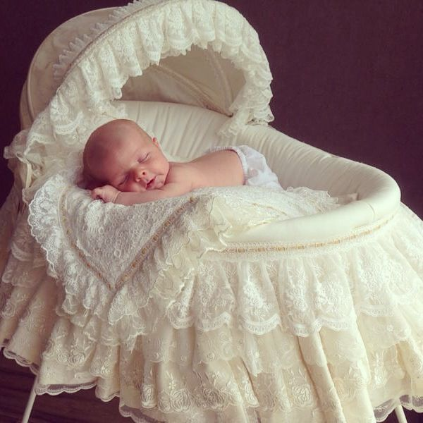 Sweet dreams  #mosesbasket #baby #lace