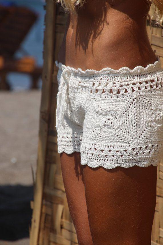 Decoda crochet Playa cortos por EllennJames en Etsy
