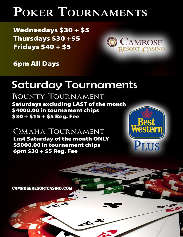 Come enjoy our poker tournaments.