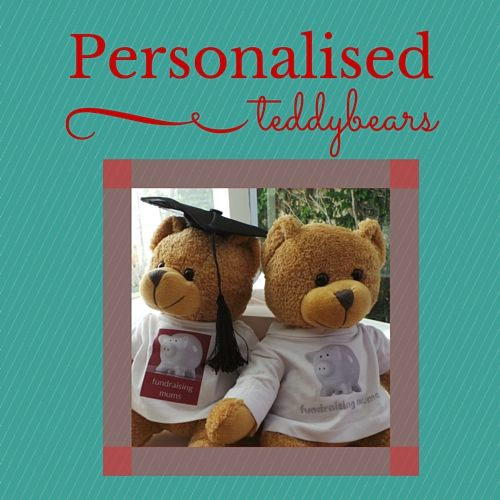 Perfect for a day care fundraiser right through to a high school graduation, these customisable bears could even be sold at a reunion or major anniversary.