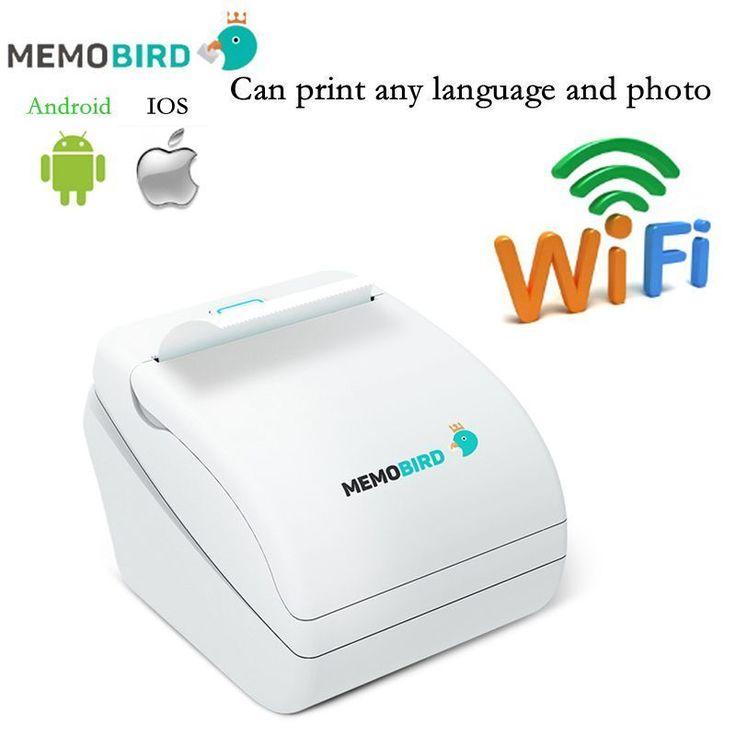 WiFi Printer Memobird Thermal label barcode Wireless Remote Phone Photo New  #Memobird
