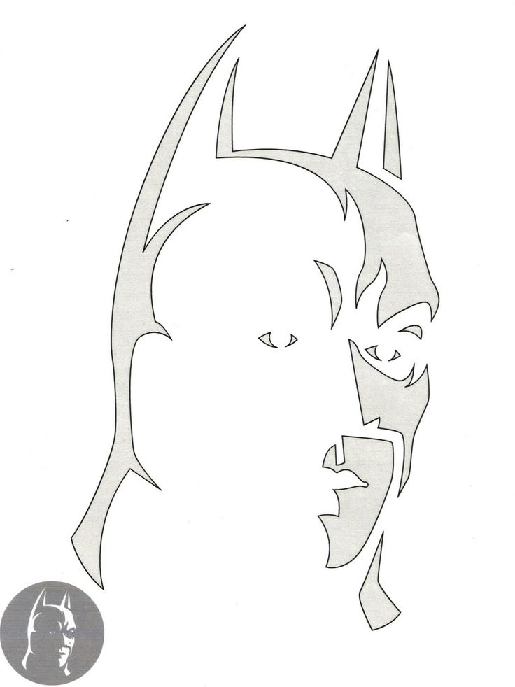 Batman Pumpkin Stencil @Marina Zlochin Thiesen for Derrick!