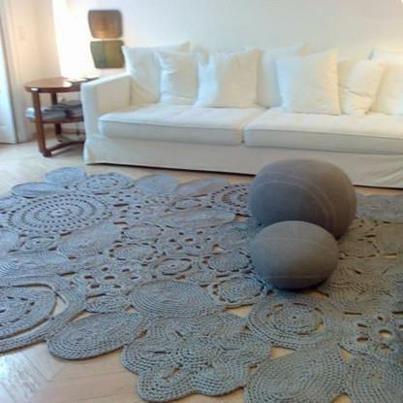 Crochet carpet.