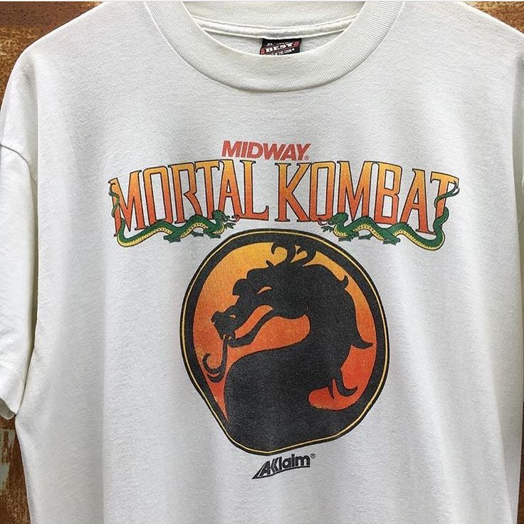 "391 Likes, 6 Comments - P.F.R. Vintage (@pfrvintage) on Instagram: ""FINISH HIM!!! 🐉 Vintage 90's Mortal Kombat Arcade Promo Tee available via PFRVintage.com #LinkInBio…"""