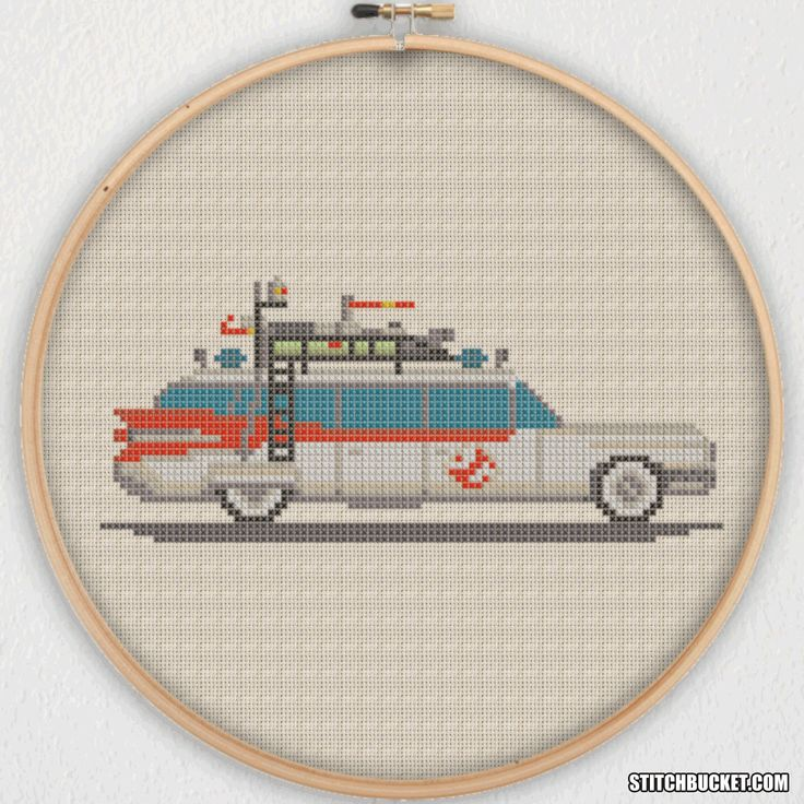 Ecto-1 Ghostbusters Cross Stitch Pattern - Instant Download PDF by StitchBucket on Etsy https://www.etsy.com/listing/236963641/ecto-1-ghostbusters-cross-stitch-pattern
