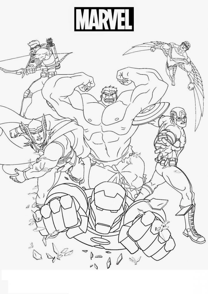 Heroes Of Marvel Coloring Pages In 2020 Hulk Coloring Pages Superhero Coloring Pages Avengers Coloring
