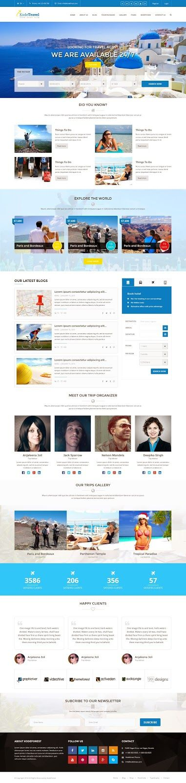 Fresh Travel and Tourism HTML5 Bootstrap Template 2015