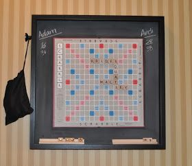 Hanging magnetic Scrabble board -- would be a great housewarming gift too!