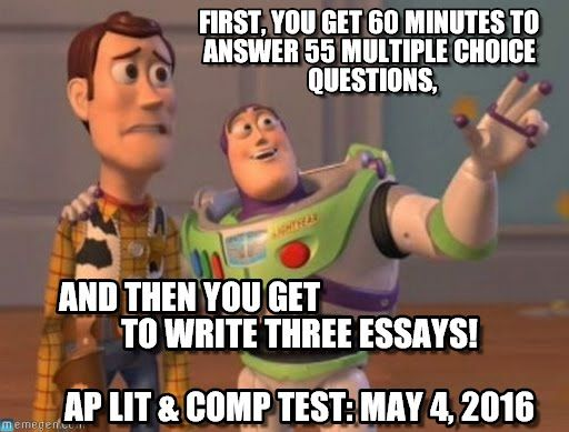ap literature exam essay The materials included in these files are intended for non-commercial use by ap teachers for course and exam preparation permission for any other use must be  this essay is much less multi-dimensional than the very rich one provided by the first young  1999 ap english literature scoring guidelines.