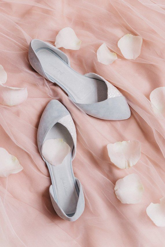 90ddb6741e9 Wedding shoes blue wedding shoes bridal ballet flats low