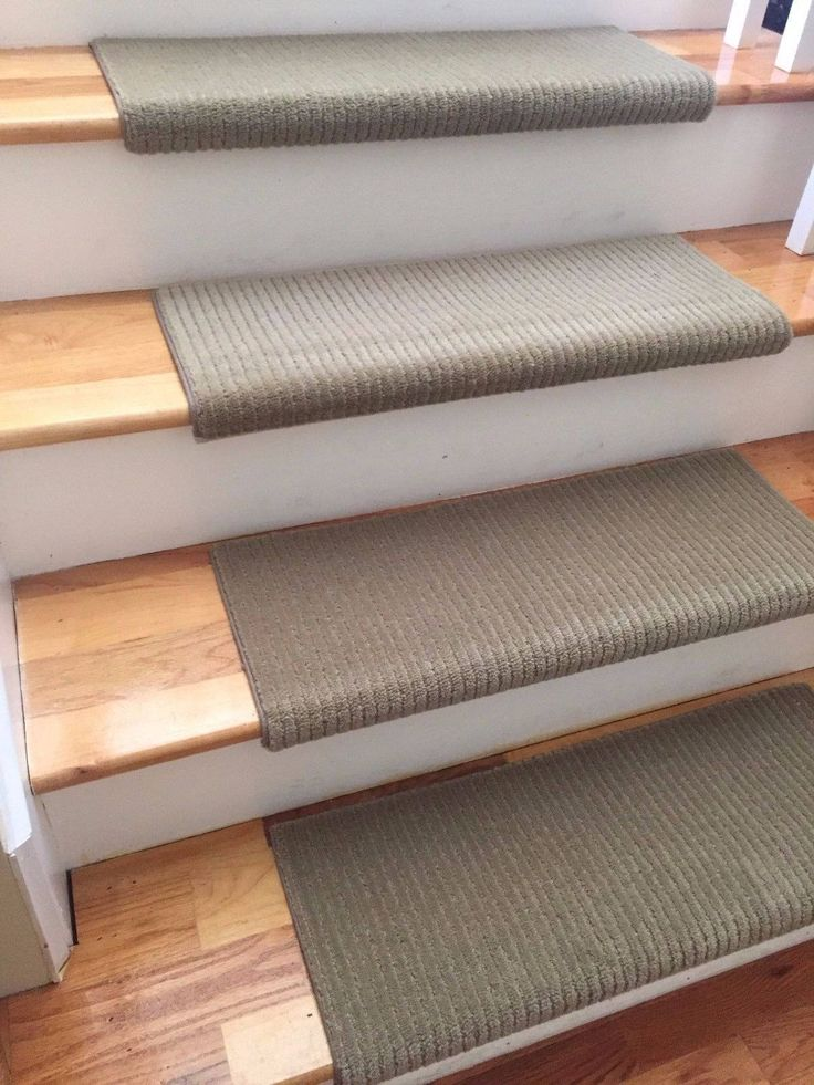 Palladian Meadow Mist 100% New Zealand Wool!-TRUE Bullnose™ Carpet Stair Tread Runner Replacement for Style, Comfort & Safety (Sold Each)