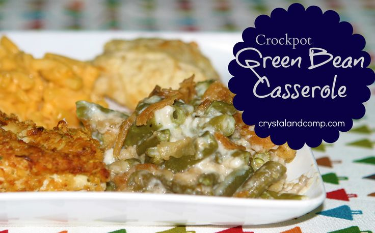 green bean casserole for the crock pot!  Made this for lunch Sunday, was a hit. Next time I will warm the onions in the oven and place on top, when ready to serve.