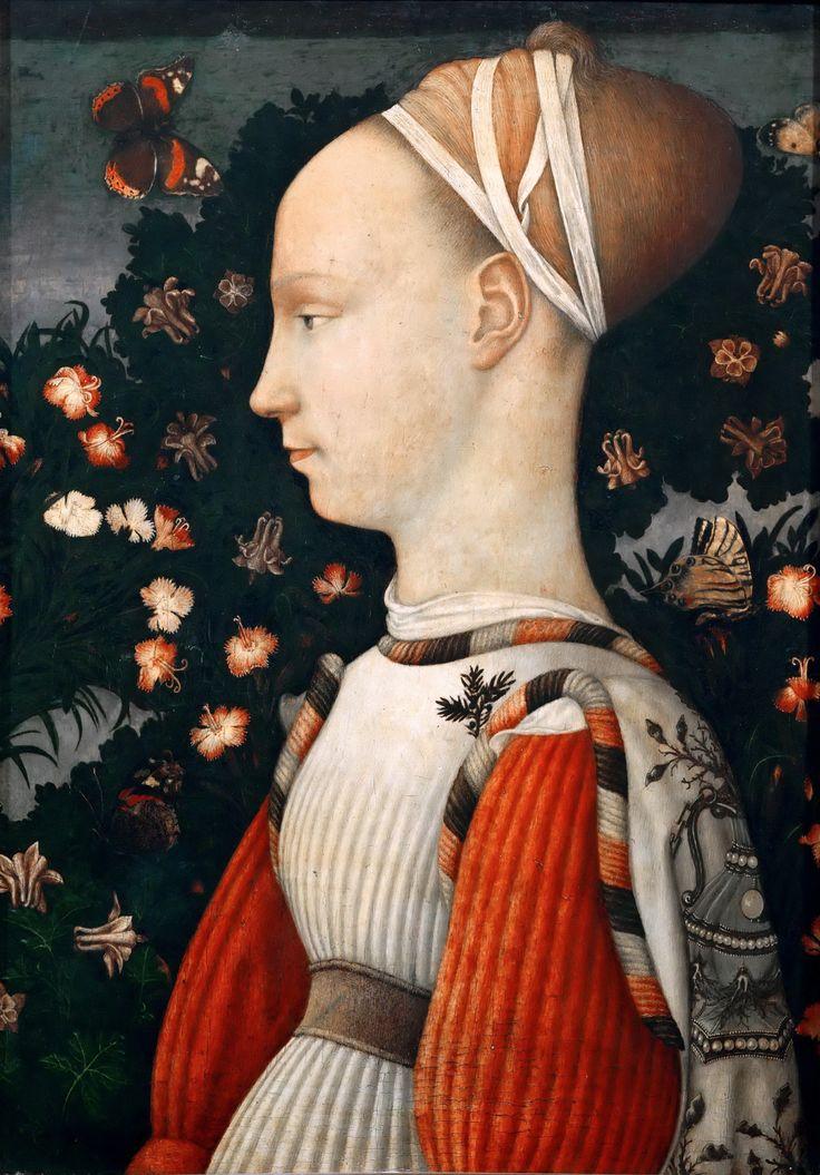 Antonio di Puccio Pisano detto il Pisanello Ritratto di principessa estense (Ginevra d'Este, 1435-1449), Museo del Louvre, Parigi