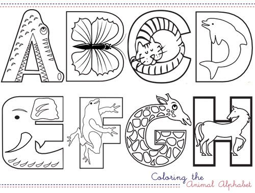Coloring the Animal Alphabet - printables.