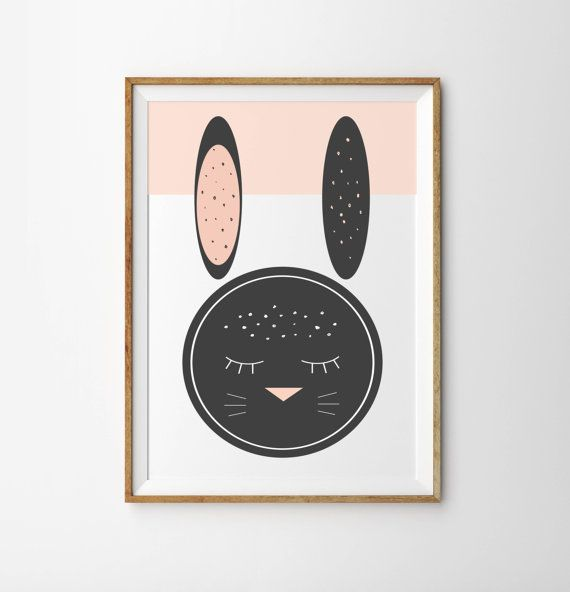 Hey, I found this really awesome Etsy listing at https://www.etsy.com/ca/listing/214447667/pink-bunny-wall-art-print-poster-pink