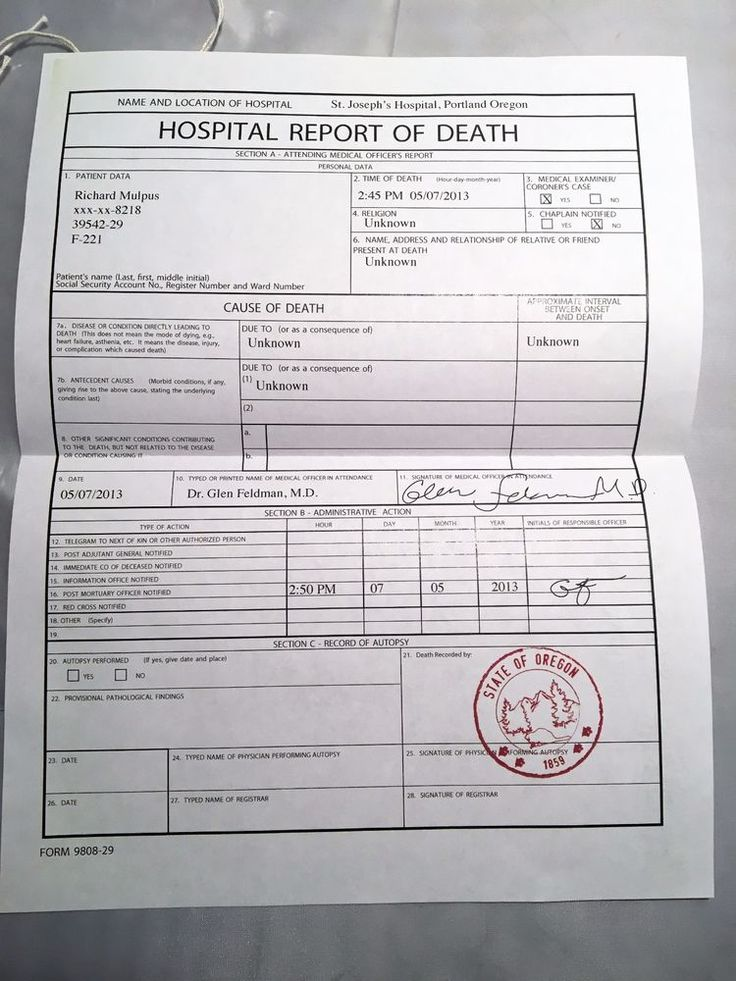 """The death certificate is for Richard Mulpus, who was a Coyotl creature who turned into a zombie on the 43rd episode called """"The Walking Dead."""". Authentic Grimm TV Prop Death Certificate! The Walking Dead 43rd Episode Zombie. 