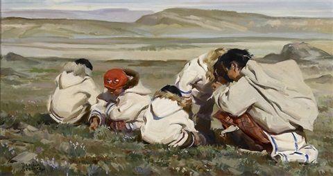 Berry pickers on the tundra by Bettina Steinke kK