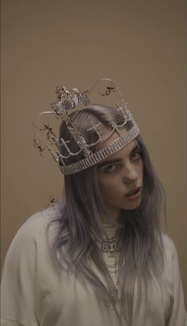 crown billie eilish wallpaper billie eilish billie celebrities