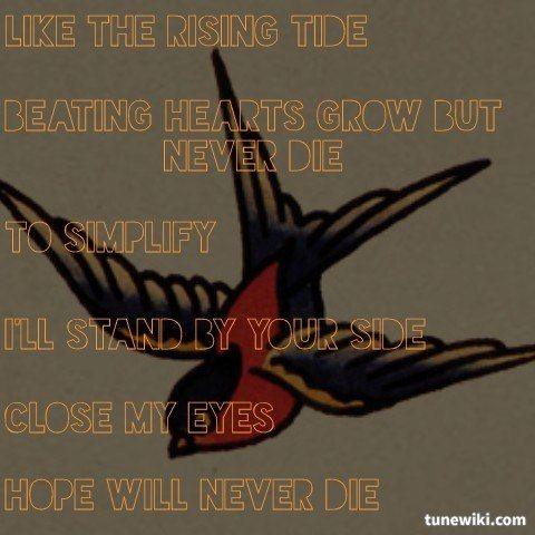 """-- #LyricArt for """"When Two Are One"""" by Atreyu"""