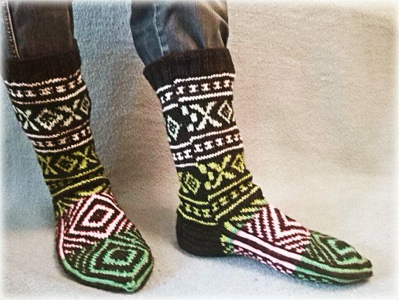 Warm socks for men by WarmandCozyKnits on Etsy