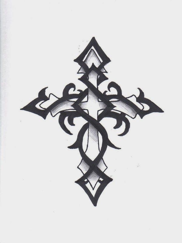 Pin On Cross Tattoo Outlines
