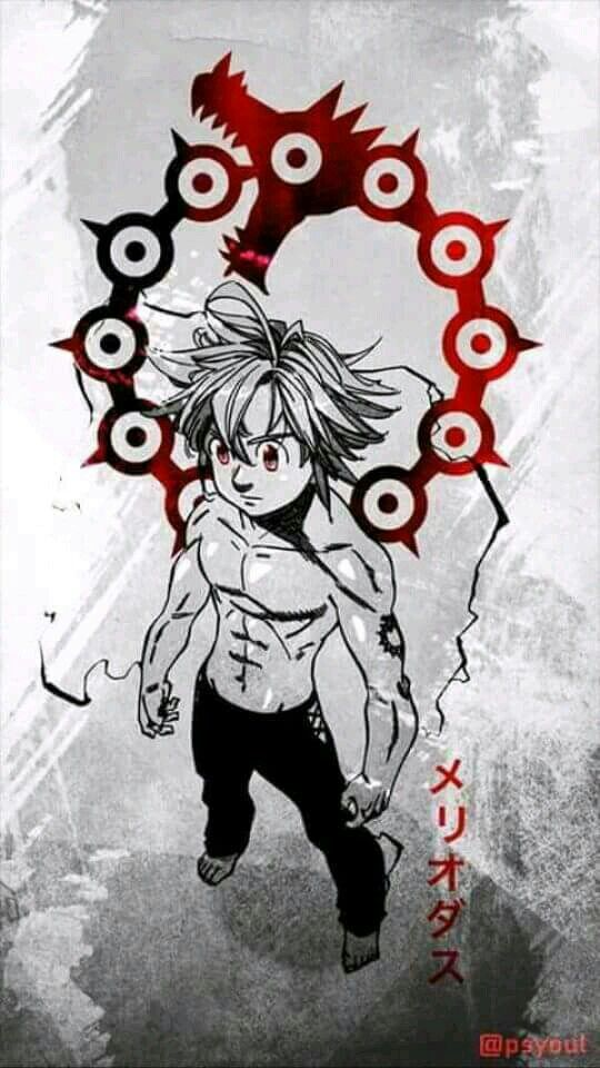 Meliodas Deadly Sin Dragon's Wrath Anime wallpaper