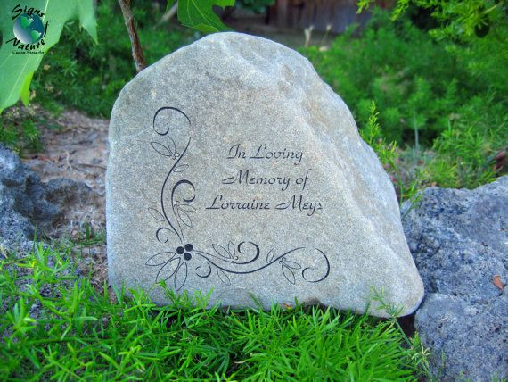 memorial garden stone 7in9in custom hand engraved memory stone to honor your loved ones