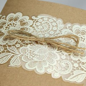 Non-Personalised-Wedding-Invitations-Laces-Laser-Cut-Shaby-Chic-Free-P-P