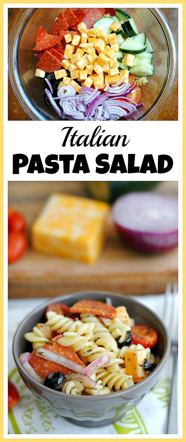 During the hot summer the last thing you want to do is turn on a hot oven! For a delicious chilled lunch or dinner, try making this Italian pasta salad!