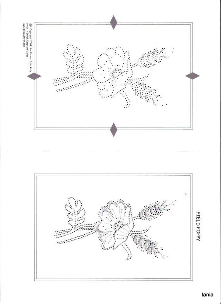 Field Poppy Pinbroidery pattern