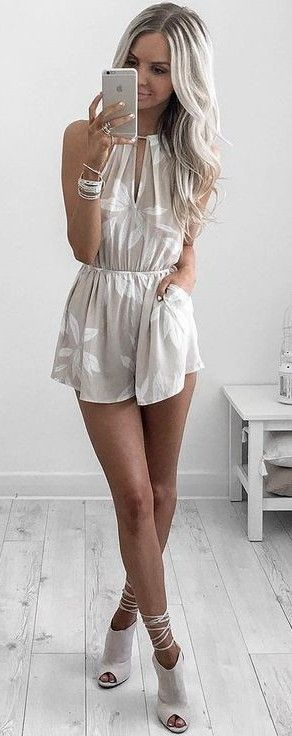 #summer #style | Light Neutral Romper