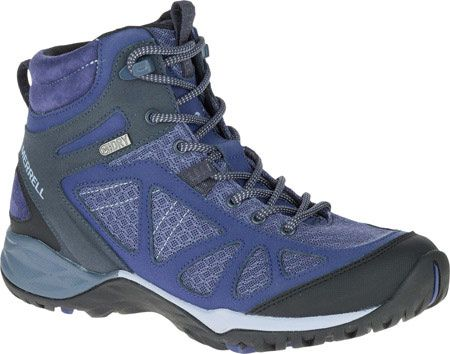 Women's Merrell Siren Sport Q2 Mid Waterproof Hiking Boot - Crown Blue with FREE Shipping & Exchanges. Whether it's exploring the wild or an adventure in the mountains, the Merrell Siren Sport Q2 Mid