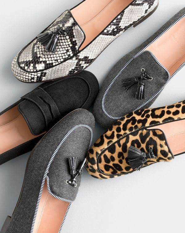 The J.Crew women's Charlie loafer, made in Italy.