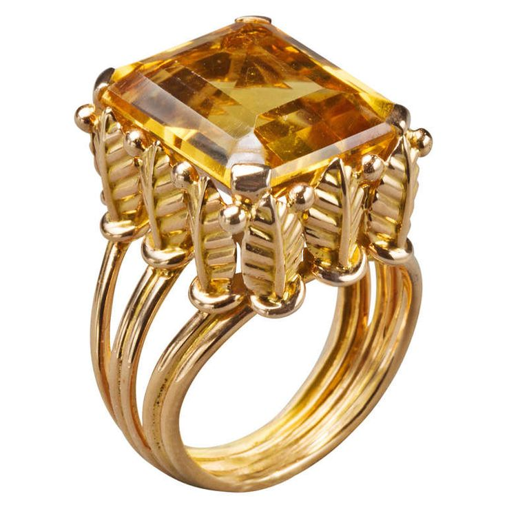 1970s French Citrine Gold Ring  sc 1 st  Pinterest & 2665 best Jewelry Box images on Pinterest | Jewelry box Jewelry ... Aboutintivar.Com